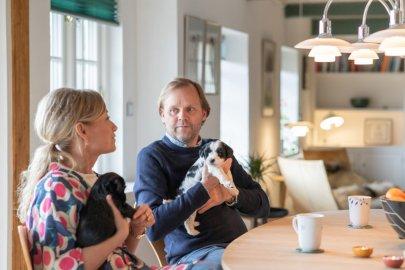 Villum x Montell: familieliv, indretning og gardiner
